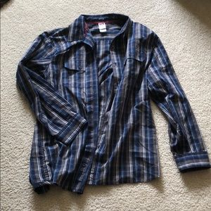 Men's North Face Button Up
